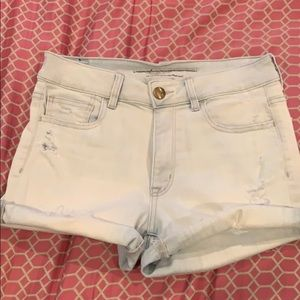 American Eagle High Rise Jean Shorts size 8
